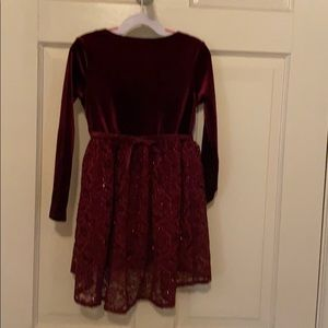 Velour and lace dress